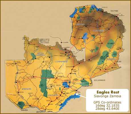 MapofZambia - Eagles Rest